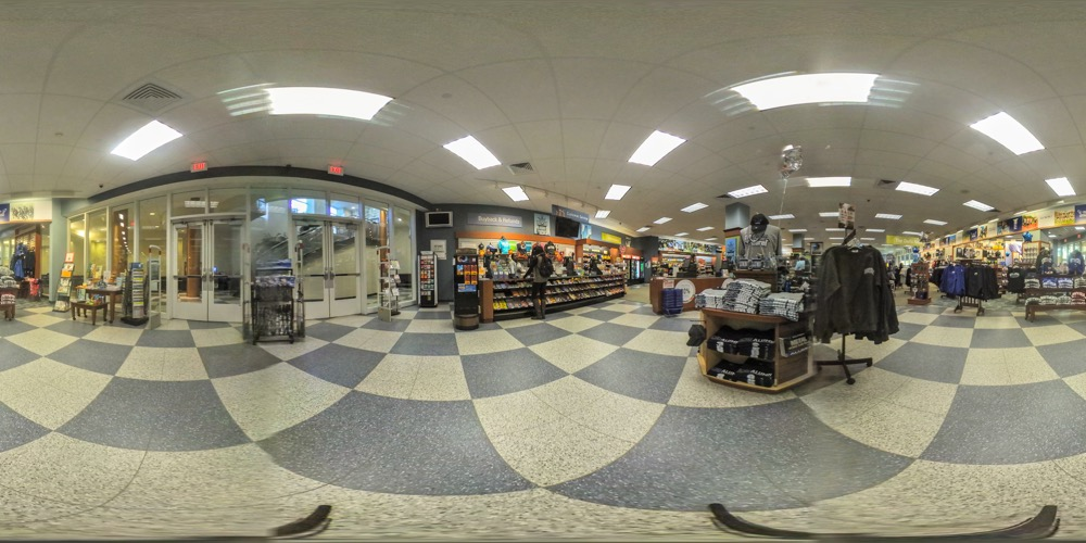 360 cover view of Campus Bookstore