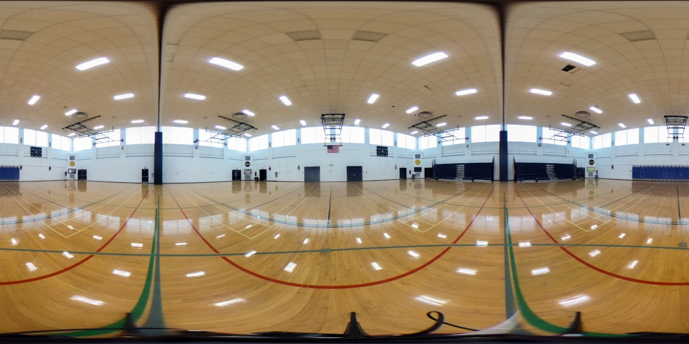 360 cover view of Pelz Gymnasium & Field