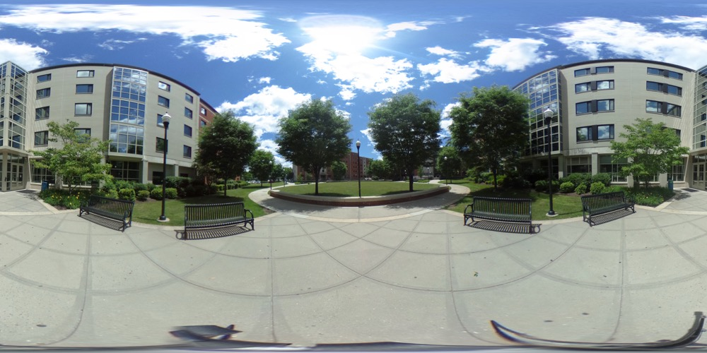 360 cover view of West Campus Residence Complex