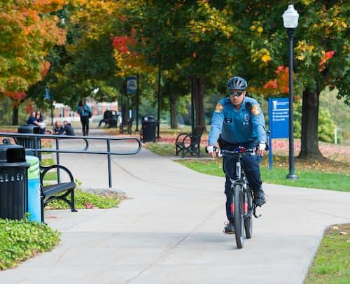 University Police on a bike
