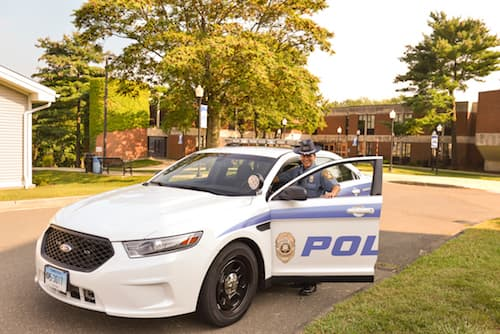 University Police with car
