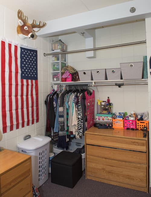 Inside a Brownell Hall dorm