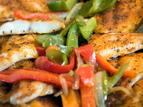 Baked chicken with peppers