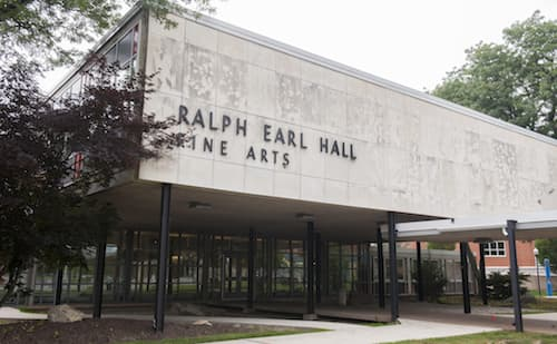 Exterior of Ralph Earl Hall