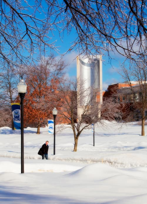 SCSU with snowy weather