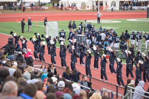 SCSU Cheerleaders performing