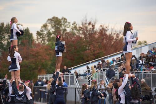 Cheerleaders posing