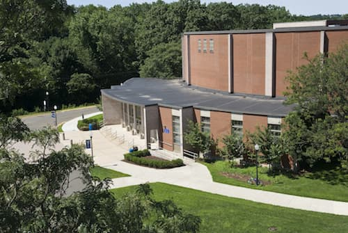 High view of the Lyman Center