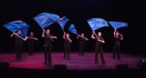 Color guard at the Music Gala