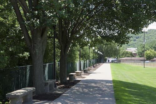Sidewalk to North Campus