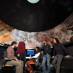 Students in Astronomy room