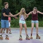 Students with rollerskates