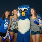 Students posing with Otus