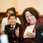 Sonia Sotomayor speaking to children