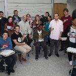 Students seated in music theory class