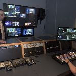 Students controlling a broadcast