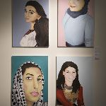 Art pieces depicting women of different cultures