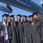Graduating students standing in line