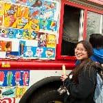 Student with ice cream