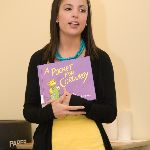Holding a children's book
