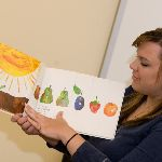 Showing some pages from the The Very Hungry Caterpillar