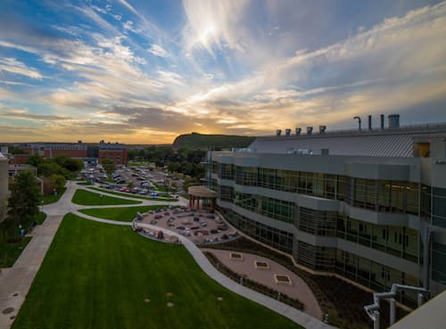 High view of the new Science Building