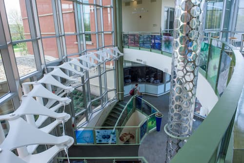 Inside the new Science Building